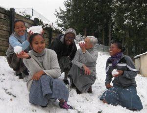 Petites soeurs au noviciat - temps de détente